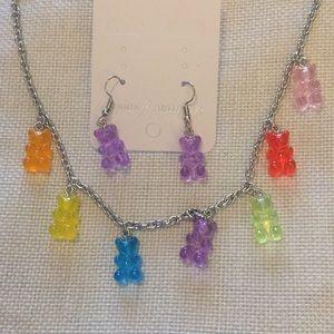 Jewelry - GUMMY BEAR SET Necklace & Earrings!